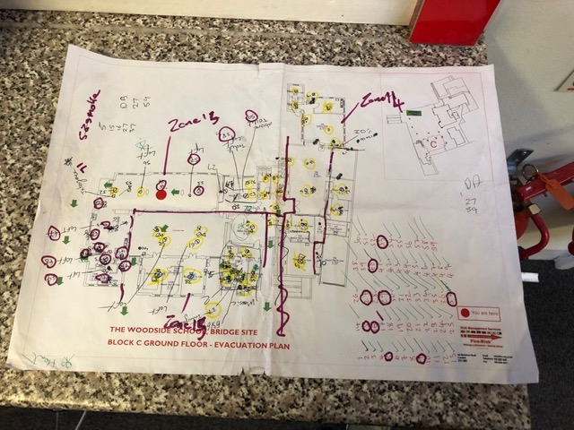 detailed fire alarm plans