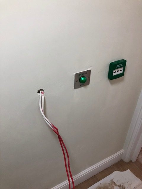 fire button on wall